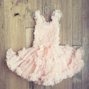 Girls 4T Blush Pink Tulle dress